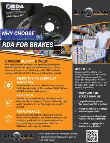 FRONT DISC BRAKE ROTORS H//D PADS for Holden Colorado RG LTZ 2.8TD 2012-10//2013