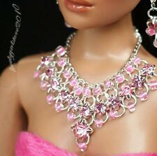 """Rhinestone Necklace and Earring Jewelry Set for 16"""" Tonner Tyler doll 005B"""