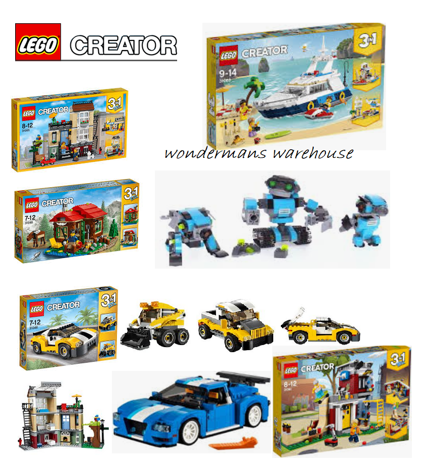LEGO Creator Sets - 31048 Lakeside Lodge 31065 Townhouse Fast Car & Plus-Neuf