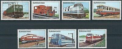 Lokomotiven Satz Postfrisch 1985 Mi Sinnvoll Burkina Faso 1043-1049 Zur Verbesserung Der Durchblutung