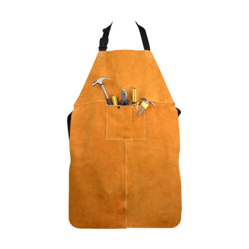 Leather Welding Bib Apron for Woodwork//Home Improvement//Heavy Duty Work NEW