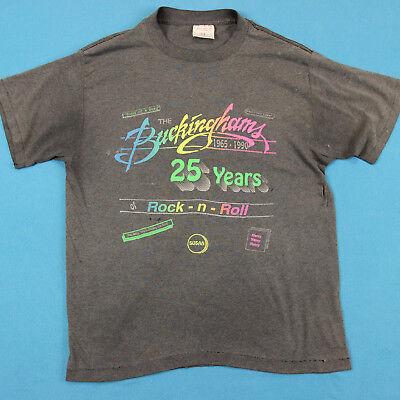Capace Anni 90 The Buckinghams Vintage T Shirt ~m │ Rock And Roll Concerto Tour Comodo E Facile Da Indossare