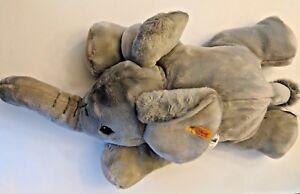 "Steiff Trampili Elephant EAN 064364 Plush Stuffed Animal Play Toy Gift New 22"""