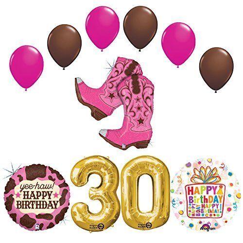 Wild West Cowgirl BOOTS Western 30th Birthday Party Supplies eBay