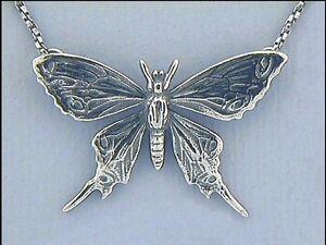 Jugendstil-Collier-Anhaenger-Schmetterling-925er-Silber-Schmuck-Neu