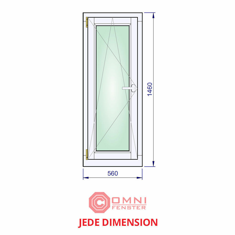 Schönes Fenster Holzfenster Dreh- Kipp Kiefer 56 x 146cm TOP PREIS