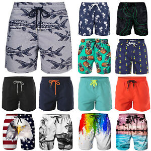 Men-039-s-Beach-Board-Shorts-Swim-Trunks-Quick-Dry-Surf-Pants-Swimwear-Plus-Size-V79