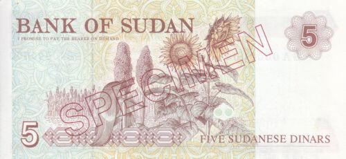 SUDAN 5 DINARS 1993 P-51s SPECIMEN UNC *//*