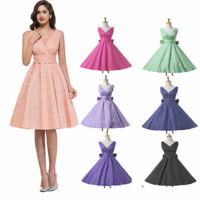CHEAP> 50s 40s Vintage STYLE Dance Swing Jive Tea Dresses Skirt Style