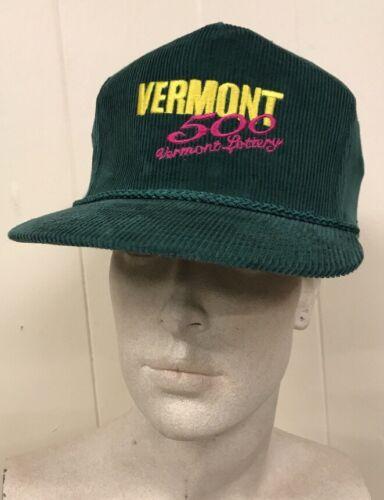 Vintage Vermont Lottery Corduroy Trucker Hat Snap