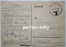 FELDPOST Rußland Deutschland 1942 Heimat WK 2 Gefangenschaft? Postkarte Fp 50