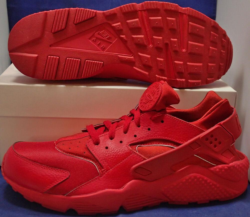 Nike Air Huarache Run iD Red Homme pour  Chaussures de sport pour Homme hommes et femmes df7fec