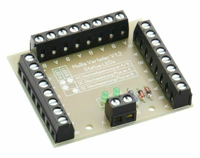 Maqueta de Tren Distribuidor Tipo 1 – 26 Abrazadera – con Estatus LED ´S - DM425