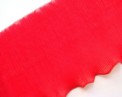 """C540 5""""6 Red Ruffle Lace Edge doll dress Trim By Meter"""