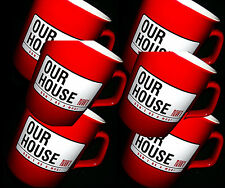 OUR HOUSE MADNESS MUSICAL - SET OF 6 OFFICIAL CHINA MUGS - SUGGS SKA TWO 2 TONE