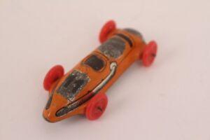 Distler-Race-Car-No-11-Tin-Car-Tin-Toy-Penny-Toy-Tin-Toy-Orange
