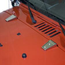 Motorhaubenscharnier Set Edelstahl Jeep Wrangler JK 07- Rugged Ridge  11111.10