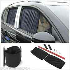 2pc 70cm Adjustable Car SUV Window Anti-UV Sun Shade Drape Visor Curtain Valance