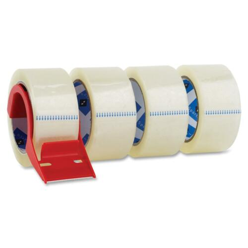 """Sparco Packing Tape w// Dispenser 3/"""" Core 3.0mil 2/""""x55 Yards 4//PK CL 64011"""