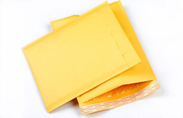 FM 10X 90*150+40mm Kraft paper Bubble Bag Padded Envelopes Mailers Yellow Bag CA