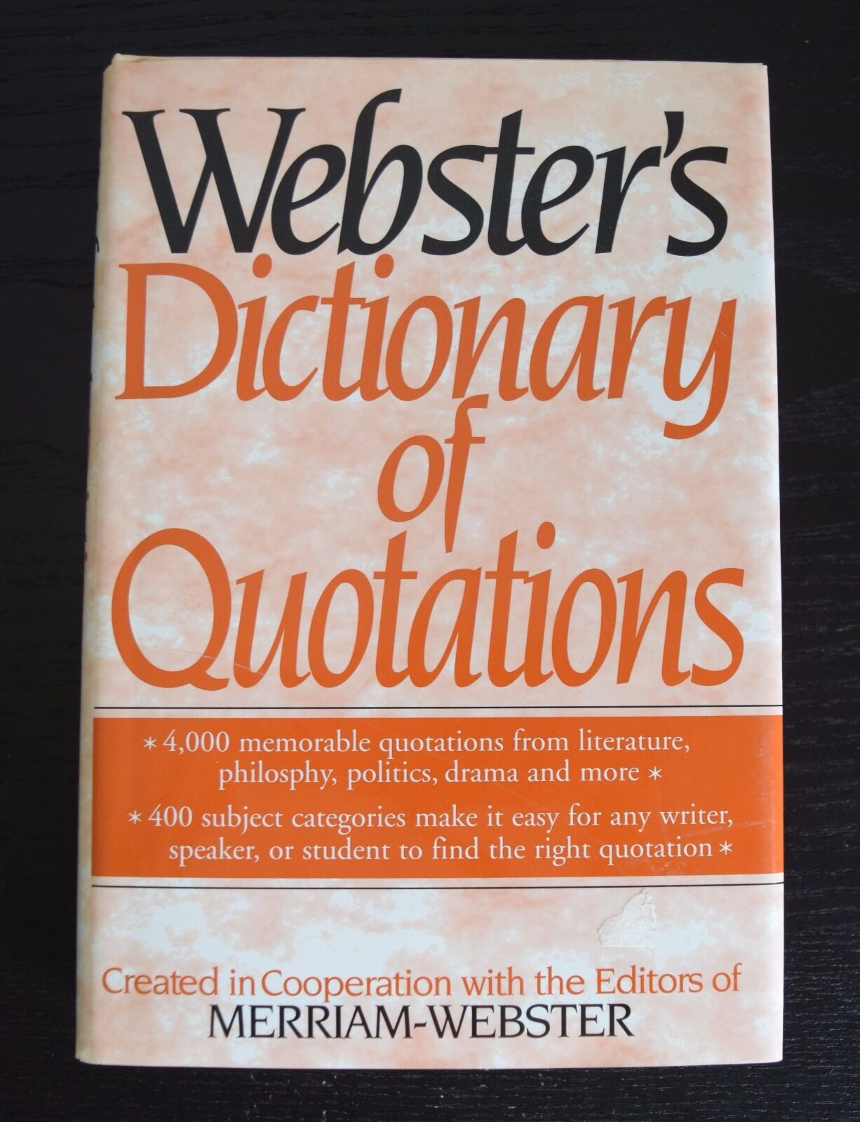 Merriam-Websters Dictionary of Quotations