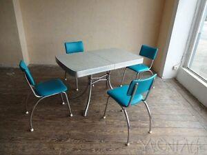 Das Bild Wird Geladen Original 40er 50er American Diner Tisch Stuhl Table