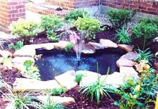 Starter DIY Pond Kit-w/pump-fountain heads-silk water lilies-45 mil liner-EASY!