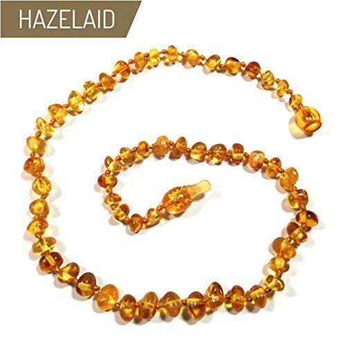 NEW Hazelaid TM 14 Pop Clasp Baltic Amber Honey Necklace FREE SHIPPING
