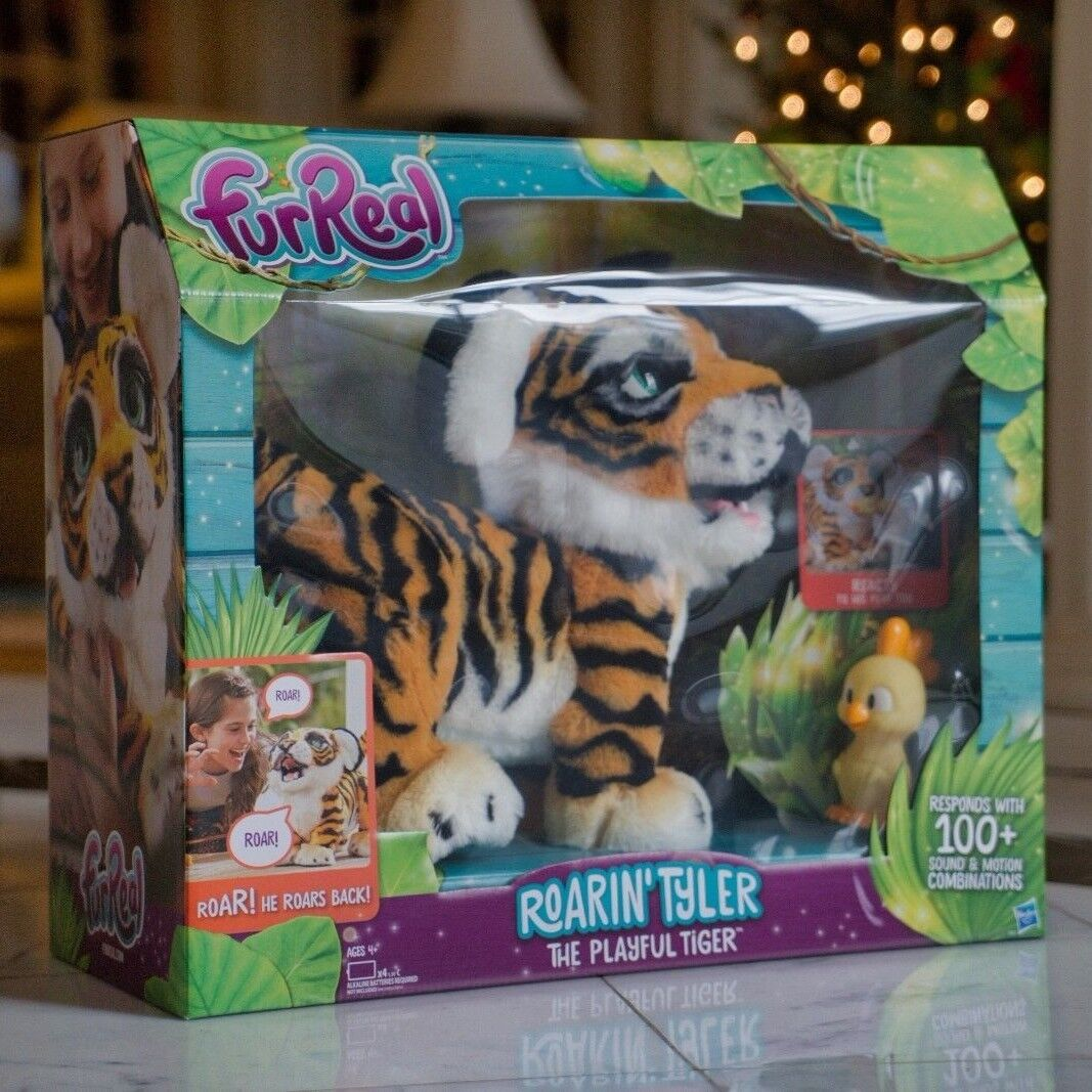 NEW NEW NEW  Furreal Roarin' Tyler, The Playful Tiger Interactive fab2e4