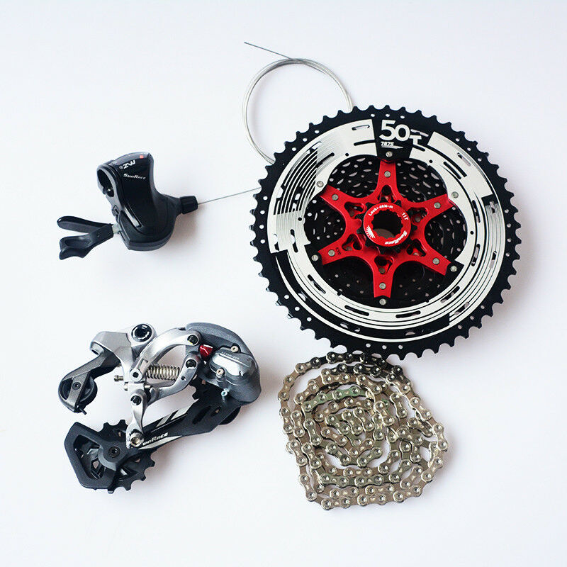 SunRace  bicycle mtb 12 speed shifter rear Derailleurs with cassette chain  big sale