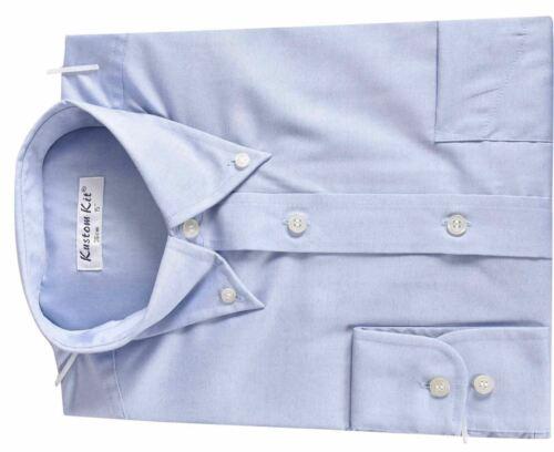Men Long Sleeve Button Down Collar Office Smart Casual Formal Dress Cotton Shirt