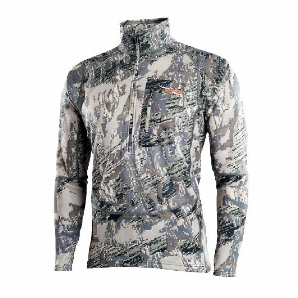 NEW Mens Sitka Gear Core Heavy Weight 1 2 Zip L S Tee Optifade Open Country
