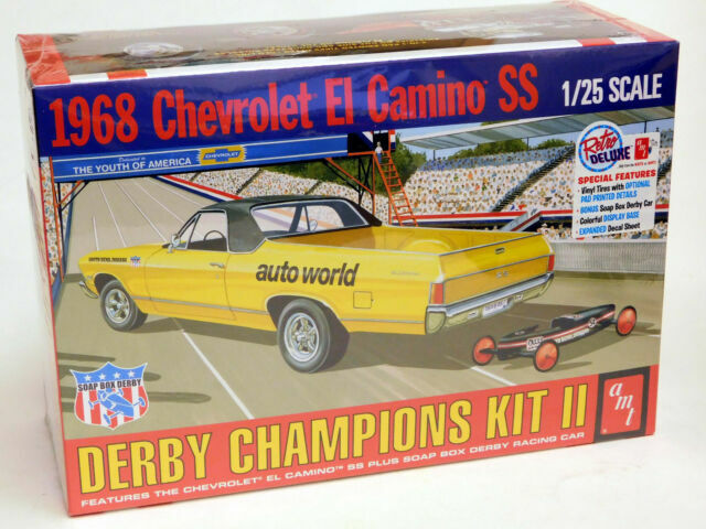 AMT 1018  1968 El Camino with Bonus Soap Box Derby Car plastic model kit 1//25