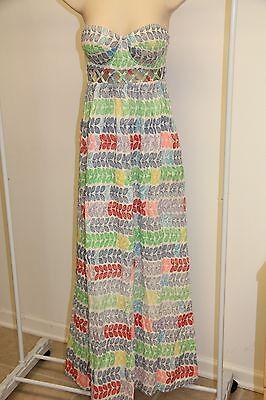 NWT Mara Hoffman Women Summer Maxi Strapless Dress LEIS Sz 2 Multi