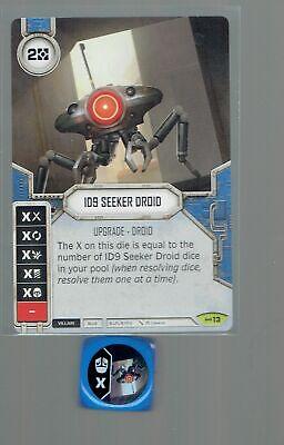 Tie Pilot x2 Rare #4 Star Wars Destiny Spirit Of Rebellion Card+Die
