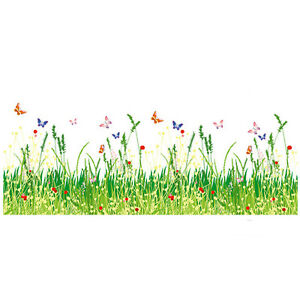 Pro-Flower-Grass-Fence-Wall-Sticker-Decal-Vinyl-Removable-Decor-Nursery-Art-Home