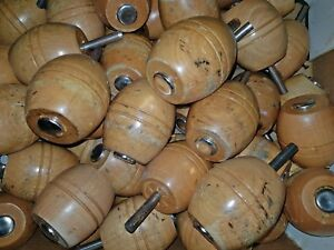Couchfüße Sofafüße Holzbeine Möbelbeine Möbelfüße konisch Holzfüße L 8 cm