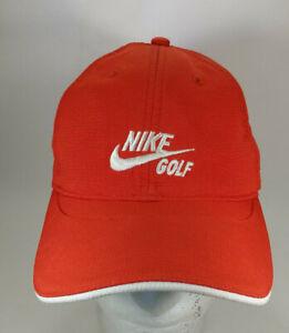 Corrupto Tratar Deshabilitar  Nike Golf Swoosh Rojo Correa Trasera Sombrero Gorra De Béisbol Golf | eBay