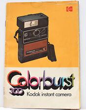 Kodak Colorburst 300 Instant Film Camera Manual Instructions Guide