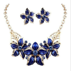 Big-Flower-Design-Statement-Earings-Necklace-Sets-Women-Gold-Plated-Jewelry-Set
