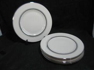 Syracuse China Nimbus Platinum Dinner Plates Set Of 6 Ebay
