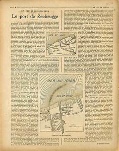 ARTICLE-COMPLET-de-Dumont-Wilden-Map-Carte-Port-de-Zeebrugge-Zeebruges-1917-WWI