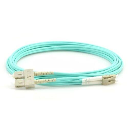 1m LC-SC Duplex 50//125 Multimode 10Gb OM3 Multimode Fiber Optic Patch Cable-465