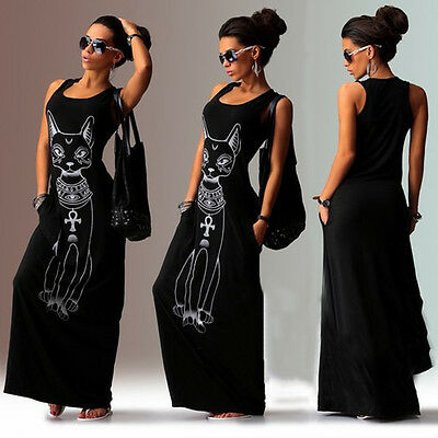 Women Boho  Long Maxi Dress Summer Party Beach Ballgown Casual Tunic Sundress