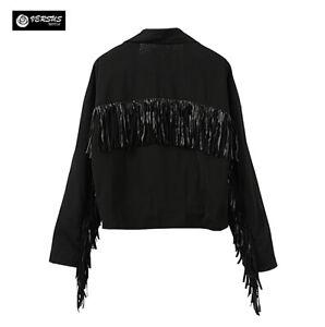 giacca nera marshall ricami