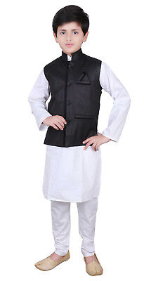 RAGAZZI Sherwani indiana Bollywood Kids Kurta Churidar Matrimonio Shalwar Kameez UK 840
