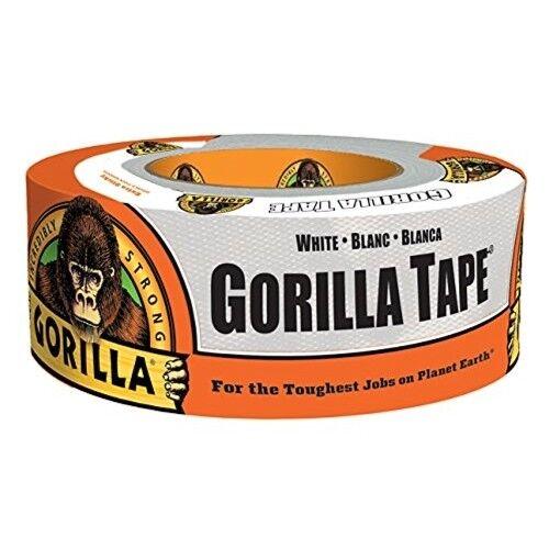 GORILLA 6010002 Gorilla Tape, 1.88 In W X 10 Yd L, 17 Mil Thick, White