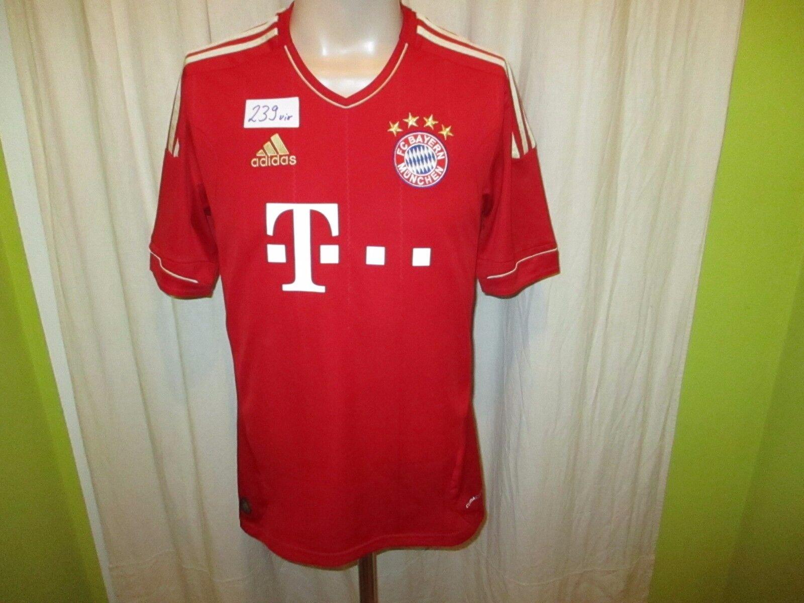 FC Bayern München Original Adidas Triple Heim Trikot 2012 13  -T---  Gr.S- M TOP  | Perfekt In Verarbeitung