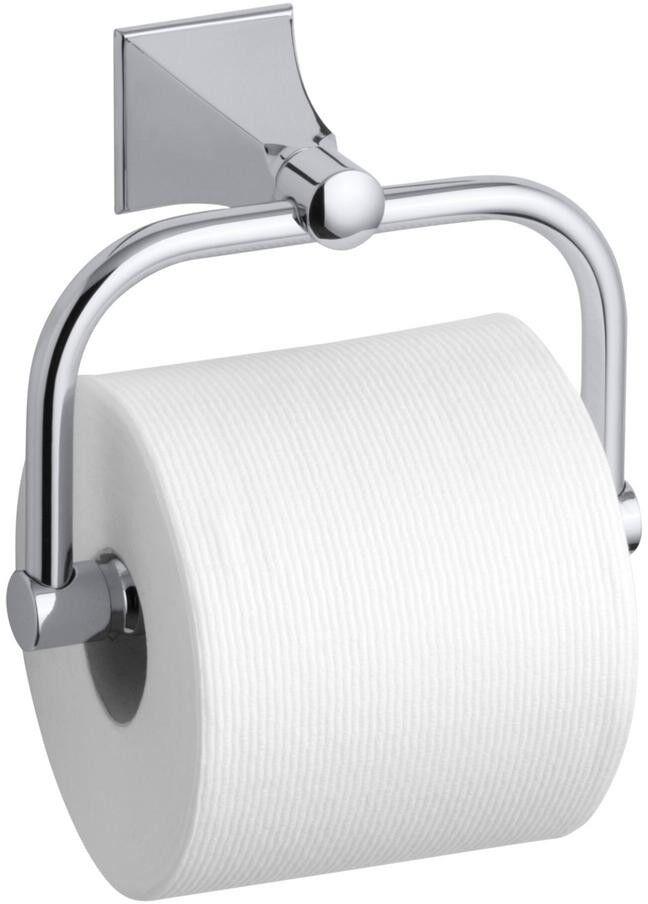 Kohler Toilettenhalter Wandhalterung Single Post mit Stately Design in Chrome