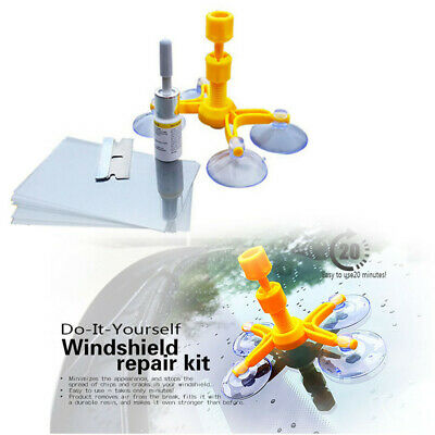 DIY Car Window Cracked Glass Repair Kit Windshield Kits Glass Scratch Tools